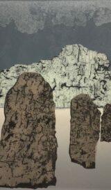 The Witnesses III, (woodcut) 2021